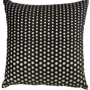 black gold polka dot pillow