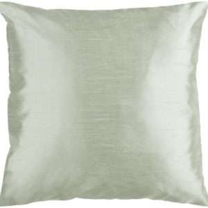 green polyester throw pillow