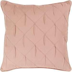 pink textured throw pillow
