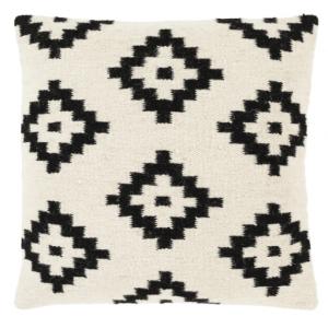 cream white print pillow