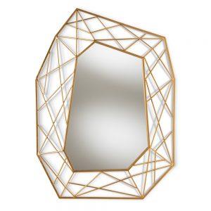geometric gold mirror