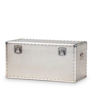 closed silver trunk